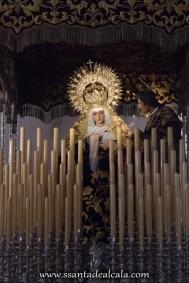 Virgen de la Amargura en su paso de palio 2016