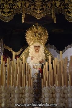 Virgen de la Esperanza en su paso de palio 2016