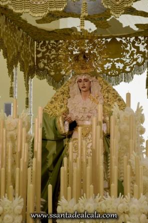 Virgen de la Oliva en su paso de palio 2016 (7)