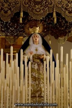 Virgen de las Angustias en su paso de palio 2016 (2)