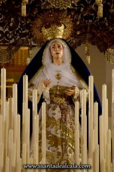 Virgen de las Angustias en su paso de palio 2016 (3)