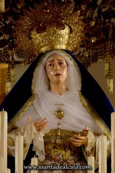 Virgen de las Angustias en su paso de palio 2016 (4)
