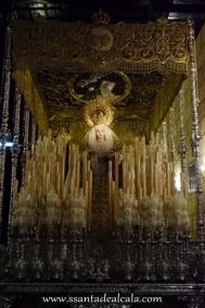 Virgen del Rosario en su paso de palio 2016