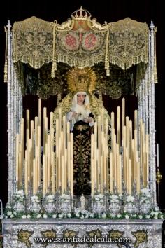 Virgen del Socorro en su paso de palio 2016 (1)