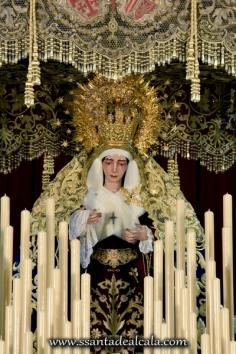 Virgen del Socorro en su paso de palio 2016 (2)
