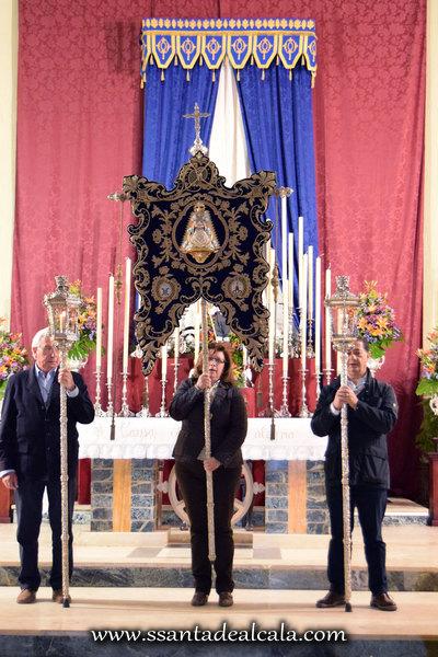 Traslado del Simpecado de la Virgen del Rocío al Altar Mayor 2016 (14)