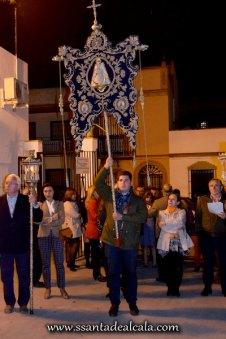 Traslado del Simpecado de la Virgen del Rocío al Altar Mayor 2016 (2)