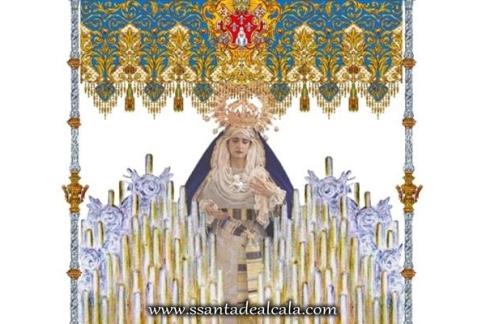 Boceto del palio de la Virgen de la Caridad 1