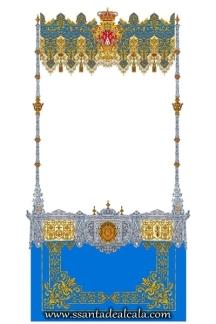 Boceto del palio de la Virgen de la Caridad 2