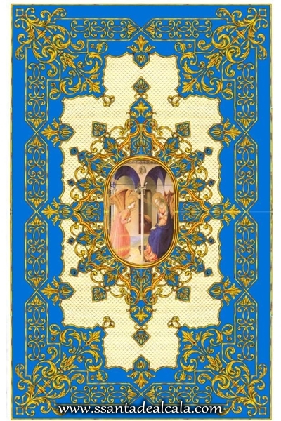 Boceto del palio de la Virgen de la Caridad 7