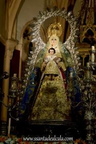 Virgen del Águila en su paso procesional (1)
