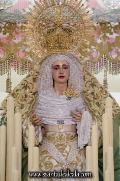 Virgen de la Oliva en su paso de palio 2017 (1)