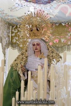Virgen de la Oliva en su paso de palio 2017 (4)