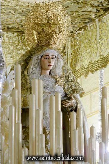 Virgen del Rosario en su paso de palio 2017 (10)