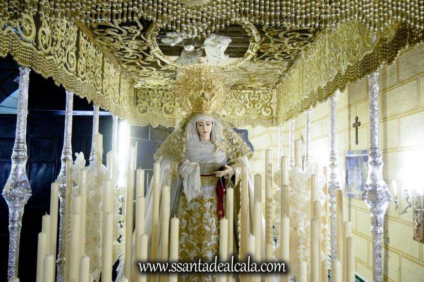 Virgen del Rosario en su paso de palio 2017 (11)