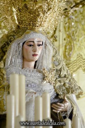 Virgen del Rosario en su paso de palio 2017 (9)