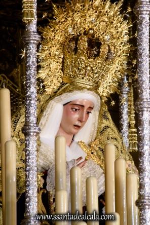 Virgen del Socorro en su paso de palio 2017 (8)